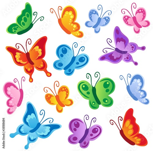 Papiers peints Papillons Various butterflies collection 1
