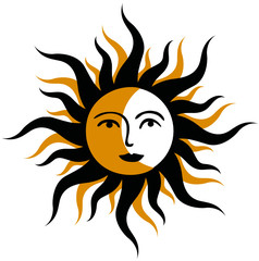 Sonne Mond Symbol