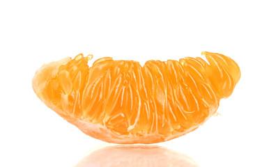 Ripe orange tangerine clove isolated on white