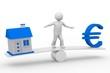Haus-Geld-Balance 3d