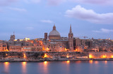 Night View Of Valletta At The Dusk