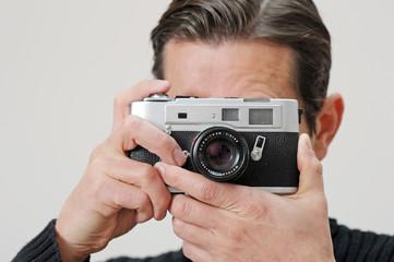 Analoger Fotograf