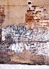 Dilapidated wall background wall paint graffiti