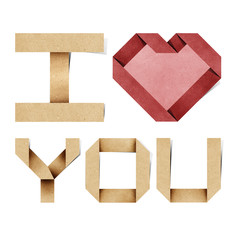 i love you alphabet recycled paper craft