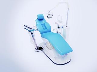 studio sedia poltrona dentista illustrazione 3d