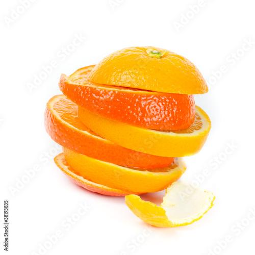 Fotobehang Plakjes fruit zweierlei Orange