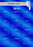 English Calendar 2014 with space for text (vector)