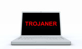 Laptop Display - Trojaner Konzept poster