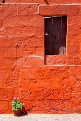 Colorful old architecture details, Cuzco, Peru.