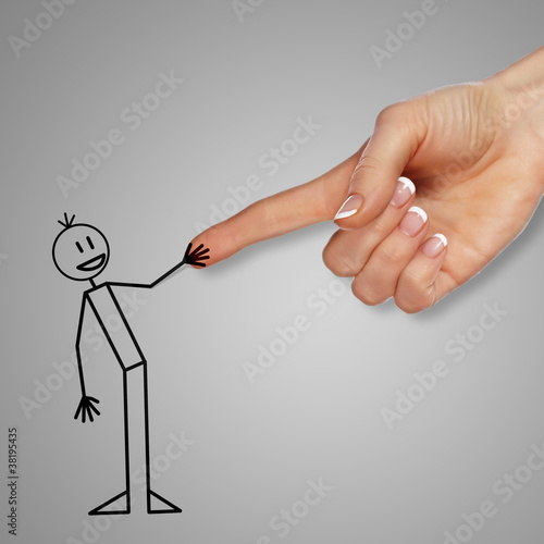 Man and handshake