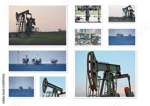 Oil wells collage