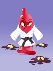 Karate condom