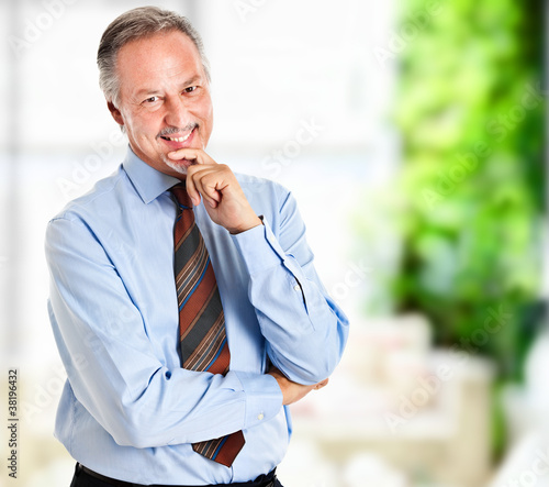 Confident smiling senior executive