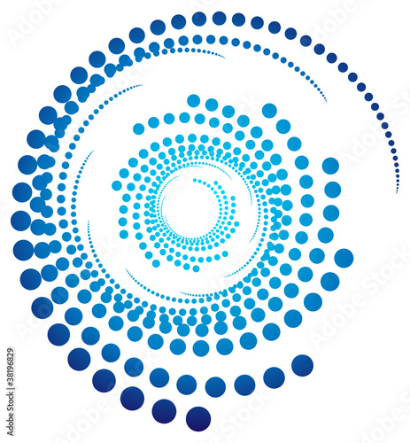 abstract blue swirly icon illustration