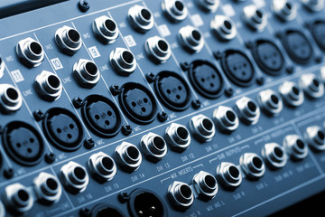 Sound mixer back panel