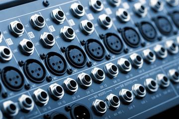 Sound mixer back panel