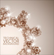 Vector technical background made from cogwheels