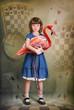 Alice and flamingo