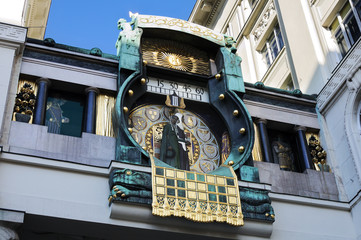 Ankeruhr, famous astronomical clock in Vienna