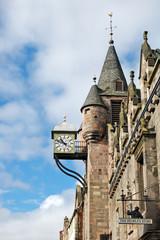 Canongate Tolbooth's Clock, Royal Mile, Edinburgh, Scotland, UK