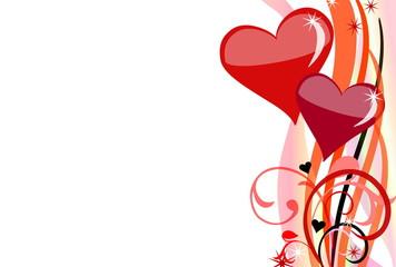 Valentinshintergrund