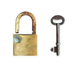 Old lock with old key