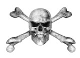 Skull and Crossbones - Pencil Drawing Style poster
