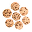 Chocolate Chip Cookies Isolated on a White Background