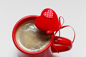 coffee on valentine day