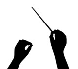 Music conductor hands poster