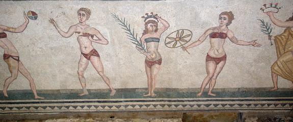 Mosaic fragment Roman Villa Romana del Casale