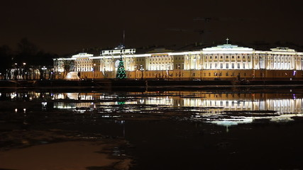 The Building of Senate and Synod in St Petersburg (Russia)