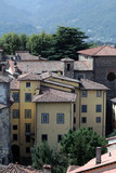 Barga a medieval hilltop town in Tuscany.Italy poster