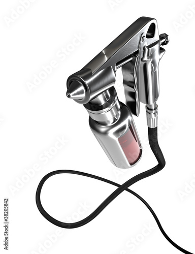 Spray gun isolated on white