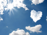 The cloud in the form of heart poster