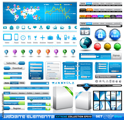 Premium infographics and Web stuff  master collection