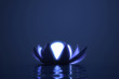 Zen flower lotus with glowing sphere