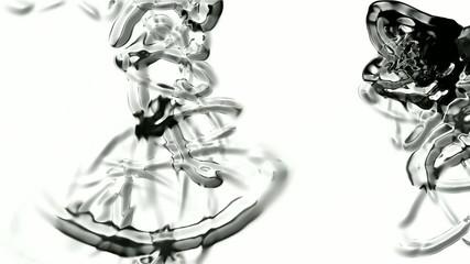 metal mercury chain curve wire,ink,alien organisms DNA