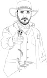sheriff with a revolver. series of Wild West