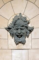 mascaron, tête décorative d'une fontaine