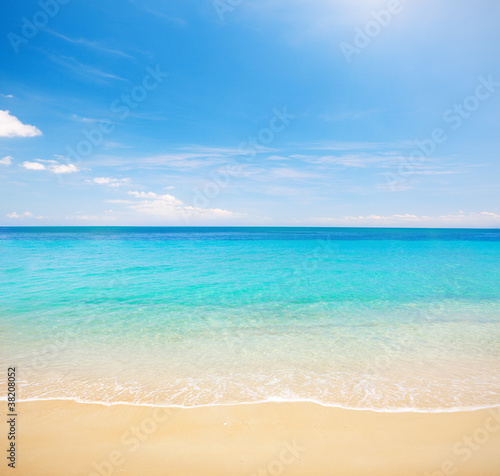 beach and clear tropical sea