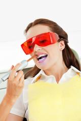 Bleaching der Zähne beim Zahnarzt