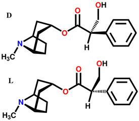 Atropine isomers structural formulas