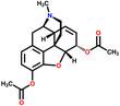 Heroin structural formula