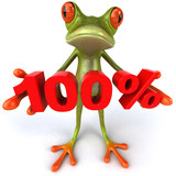 Grenouille et 100%