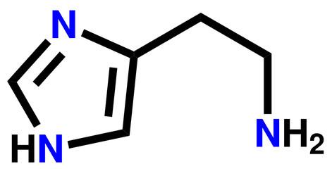 Histamine structural formula