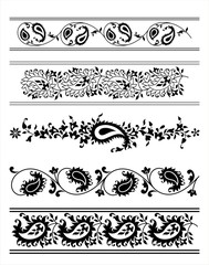 traditional paisley floral designs, Rajasthan, India