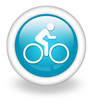 "Light Blue Icon ""Bicycle Trail"""