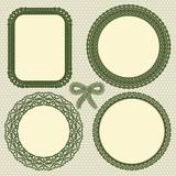 Retro lace frames set
