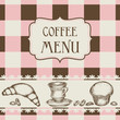 Coffee and cakes menu